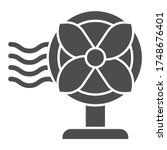 Electric Fan Solid Icon ...