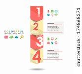 vector progress steps.  set of... | Shutterstock .eps vector #174868271