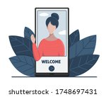 online virtual assistant...   Shutterstock .eps vector #1748697431