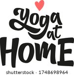 yoga at home hand drawn vector... | Shutterstock .eps vector #1748698964