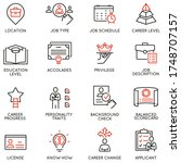 vector set of linear icons...   Shutterstock .eps vector #1748707157