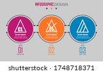 abstract paper infografics of... | Shutterstock .eps vector #1748718371