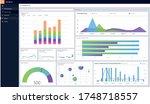 data dashboard screen laptop sf....