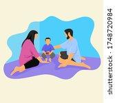 happy world of parent day | Shutterstock .eps vector #1748720984