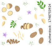 potato vector illustration... | Shutterstock .eps vector #1748753924