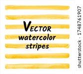 amber  honey yellow watercolor... | Shutterstock .eps vector #1748761907