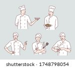 chief cooking character. hand... | Shutterstock .eps vector #1748798054