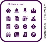 notice icon set. 16 filled...   Shutterstock .eps vector #1748798174