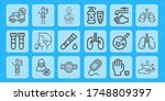 healthy line icon set on theme... | Shutterstock .eps vector #1748809397