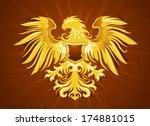 golden eagle silhouette | Shutterstock .eps vector #174881015