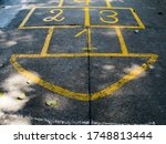 Hopscotch Game Drawn On To A...