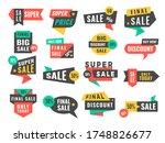 sale badges. advertising promo... | Shutterstock . vector #1748826677