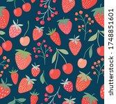 decorative seamless pattern... | Shutterstock .eps vector #1748851601