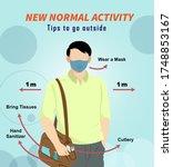 social distancing  illustration ... | Shutterstock .eps vector #1748853167