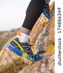 extreme sports shoes for trail... | Shutterstock . vector #174886349