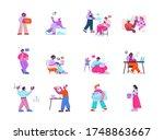 coworking space  teamwork. work ... | Shutterstock .eps vector #1748863667