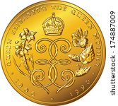 Vector Money gold coin