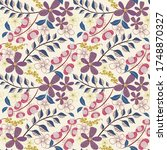 Vector Abstract Floral Seamles...