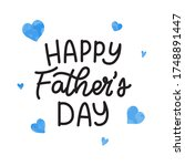 happy father's day with... | Shutterstock .eps vector #1748891447