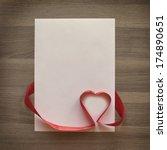 Photo Blank Sheet  Ribbon With...