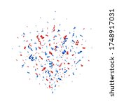 confetti blue and red splash.... | Shutterstock .eps vector #1748917031