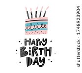 happy birthday greeting card or ...   Shutterstock .eps vector #1748923904