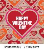 valentines pattern | Shutterstock .eps vector #174895895