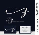simple elegant initial... | Shutterstock .eps vector #1748995271