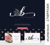 handwriting letter b logo... | Shutterstock .eps vector #1748995304