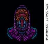 the death angel grim reaper... | Shutterstock .eps vector #1749037631