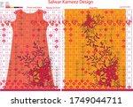 modern salwar kameez artwork... | Shutterstock .eps vector #1749044711