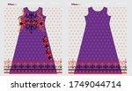 modern salwar kameez artwork... | Shutterstock .eps vector #1749044714