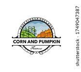 corn and pumpkin farming vector ... | Shutterstock .eps vector #1749047387