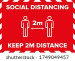 maintain social distancing 2... | Shutterstock .eps vector #1749049457
