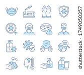 virus and coronavirus and covid ...   Shutterstock .eps vector #1749050357