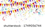 colorful celebration background ... | Shutterstock .eps vector #1749056744
