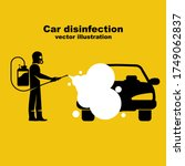 car disinfection black icon.... | Shutterstock .eps vector #1749062837
