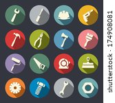 tools icon set | Shutterstock .eps vector #174908081