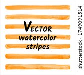 orange watercolor vector... | Shutterstock .eps vector #1749091514