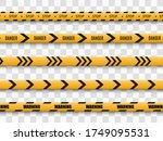 barrier warning tape on... | Shutterstock .eps vector #1749095531