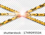 barrier warning tape on... | Shutterstock .eps vector #1749095534
