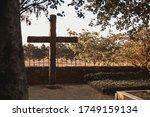 Big Cross At A Jewish Cemetery...