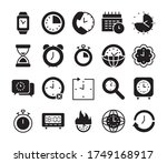 global sphere and clock time... | Shutterstock .eps vector #1749168917