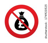no money bag sign icon. pound... | Shutterstock .eps vector #174923525