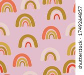 pink with rainbow elements... | Shutterstock .eps vector #1749264857