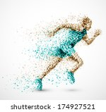 running man from circles  eps... | Shutterstock .eps vector #174927521