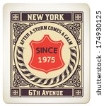 premium quality card. baroque... | Shutterstock .eps vector #174930125