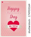 typography valentine's day card ...   Shutterstock .eps vector #174933164