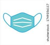 face mask icon  medicine health ... | Shutterstock .eps vector #1749356117