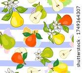 fresh green  yellow  orange... | Shutterstock .eps vector #1749364307